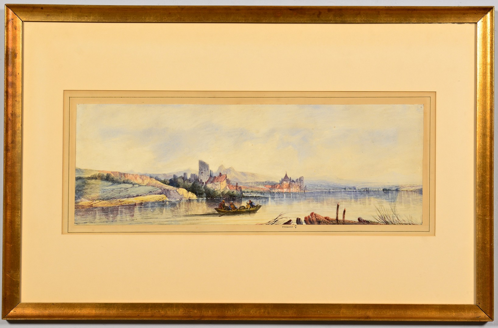 Lot 835: English Landscape Watercolor, A. H. Vickers
