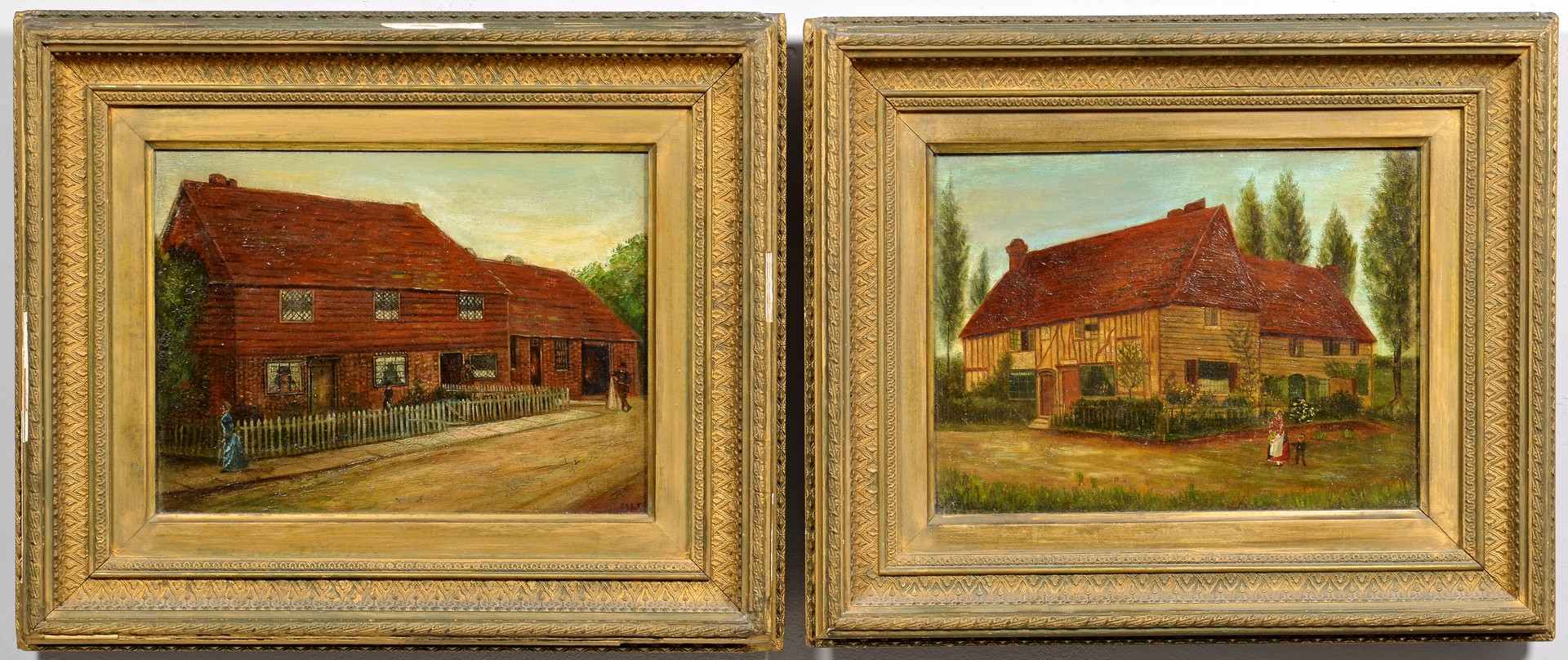 Lot 837: Pr. English House Paintings, Edenbridge