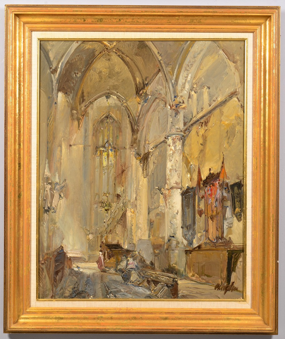 Lot 843: Job DeVogel Oil on Canvas
