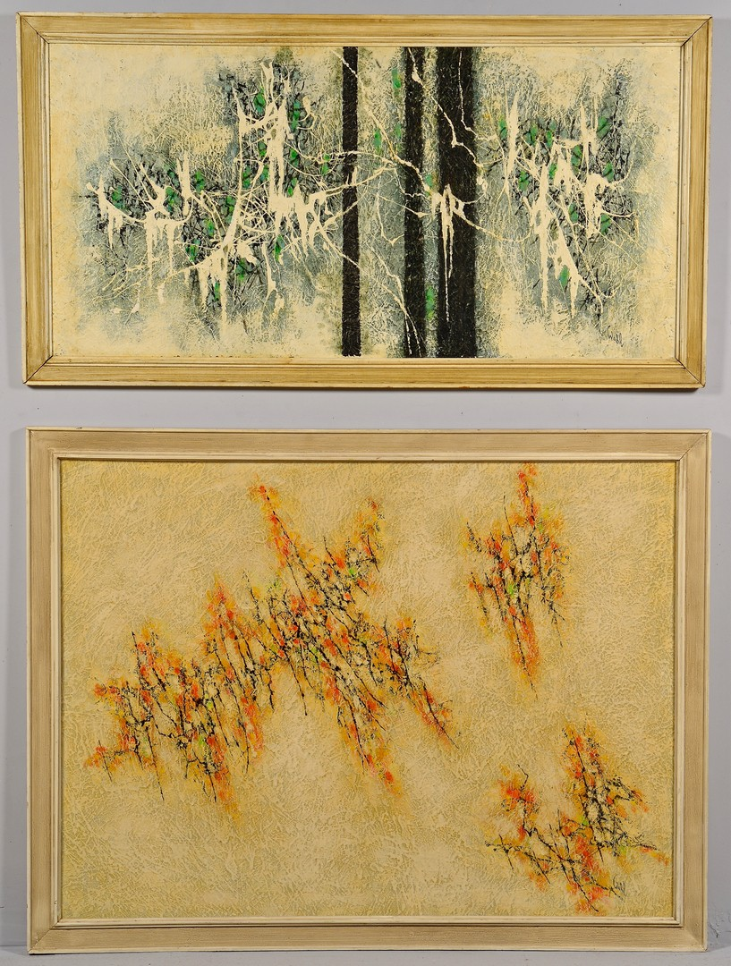 Lot 847: 2 Harold Wahl Abstracts on Board