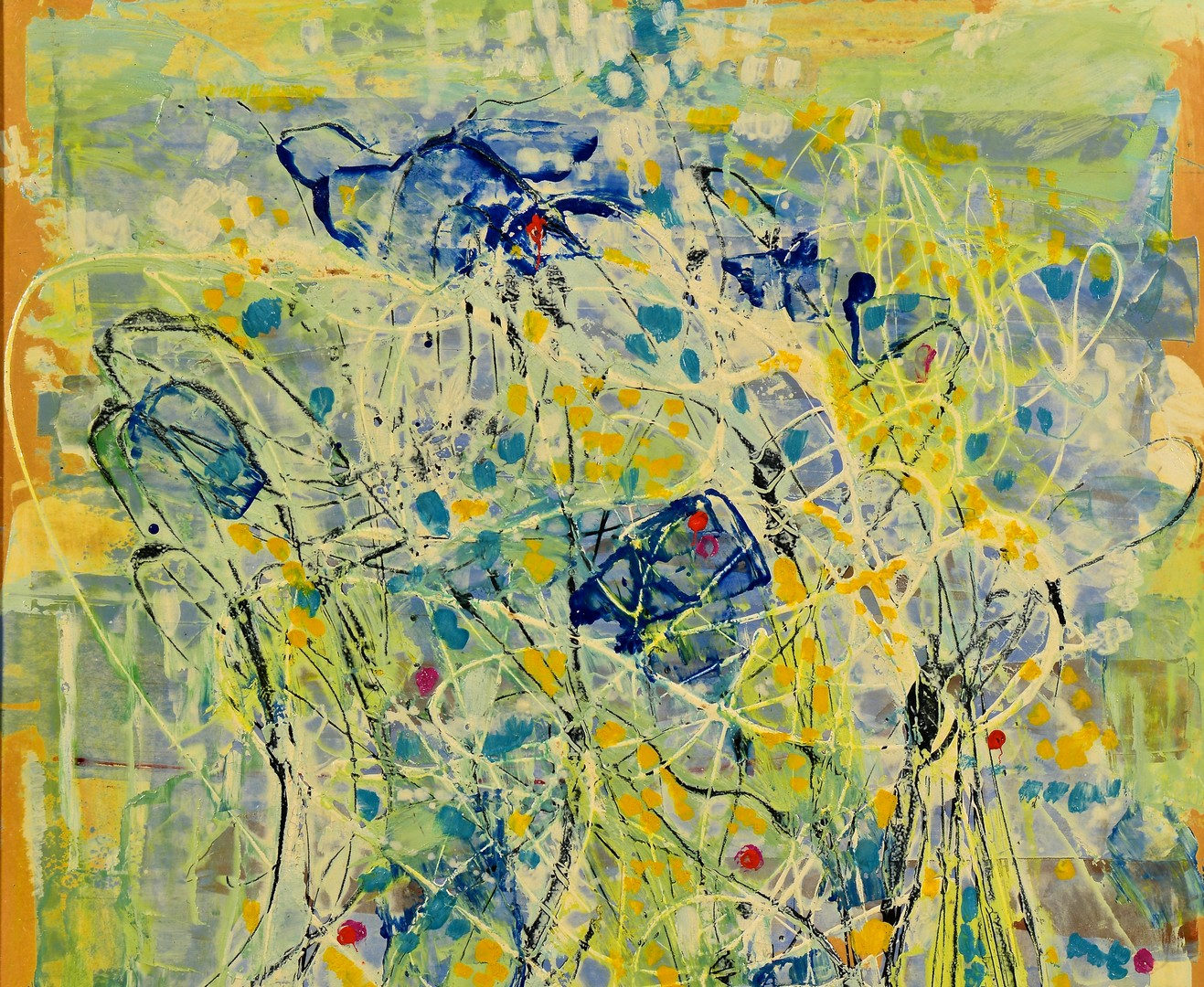 Lot 848: Shmuel Raayoni abstract oil