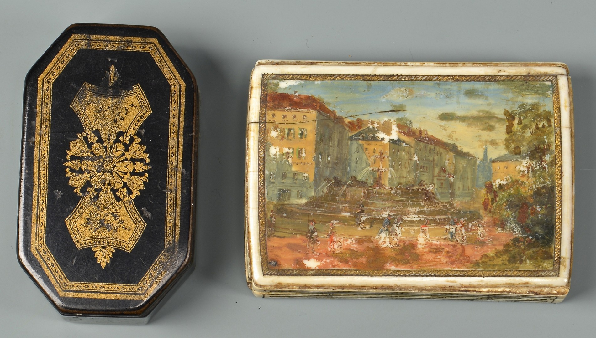 Lot 84: 5 antique snuff boxes