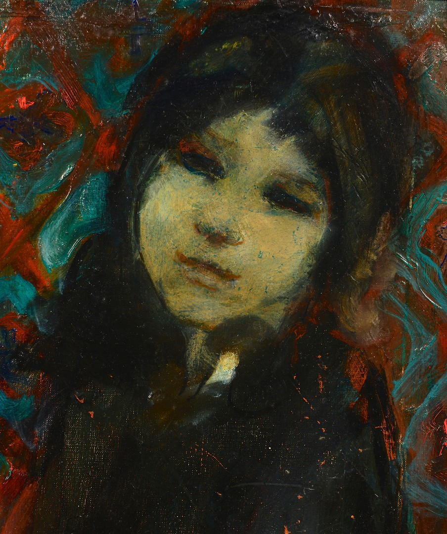 Lot 850: Arie Wachenhauser oil on canvas child portrait