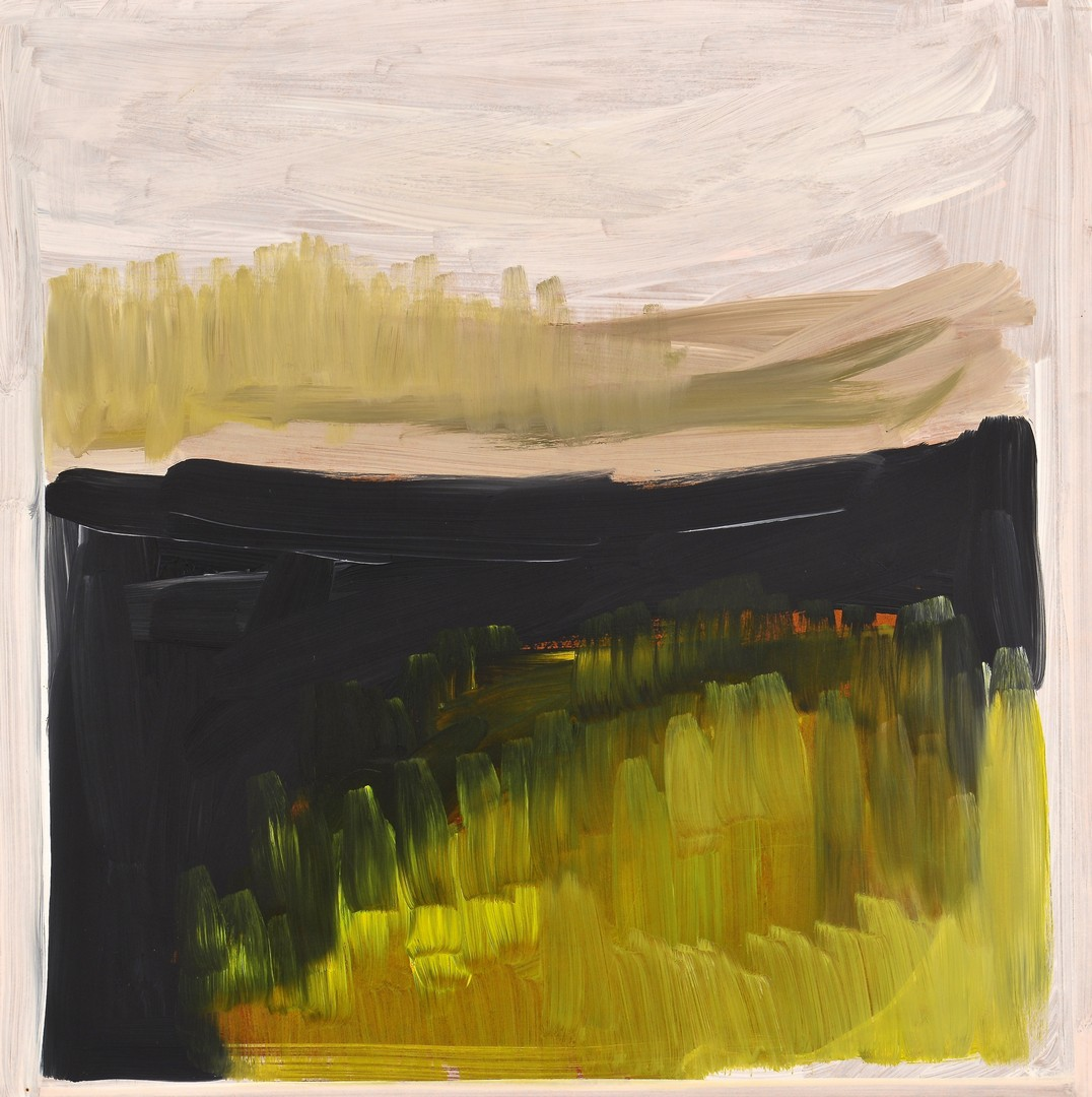 Lot 851: Abstract color block painting