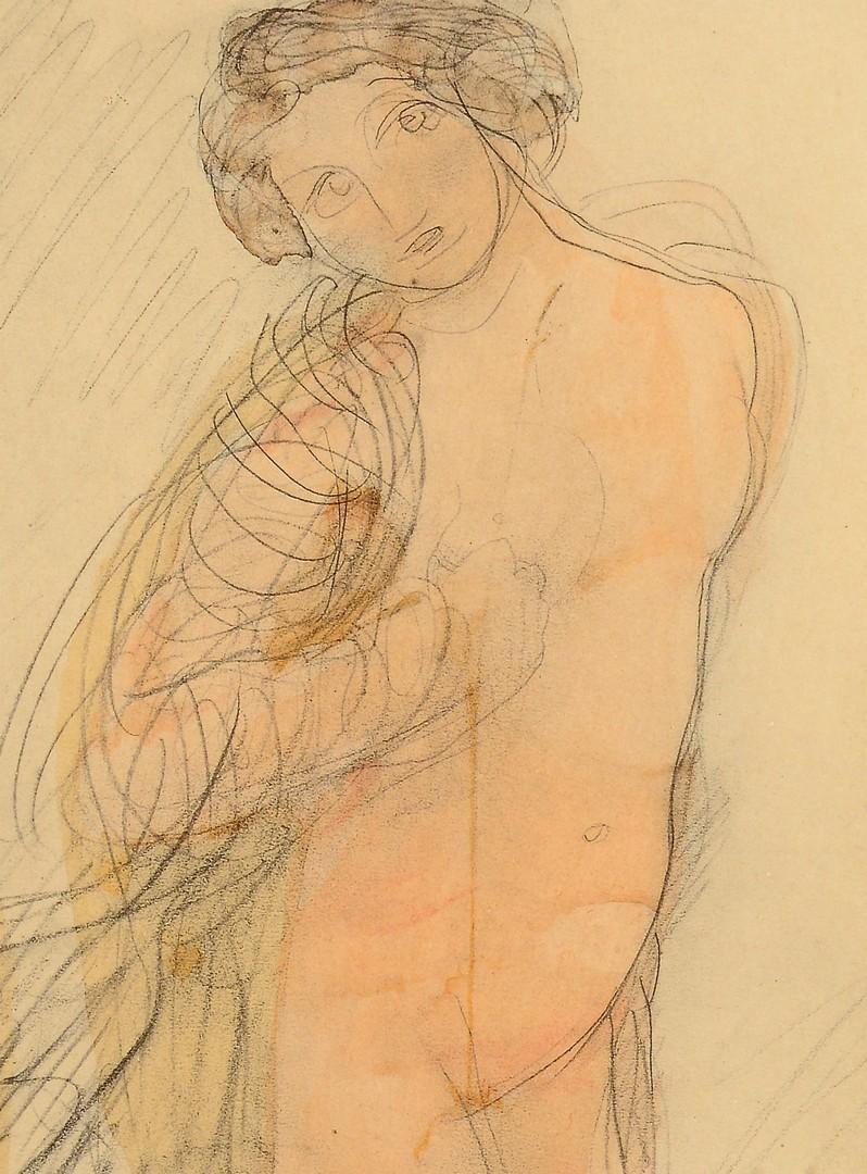 Lot 857: Rodin's Douze Aquarelles Inedites Color Lithograph