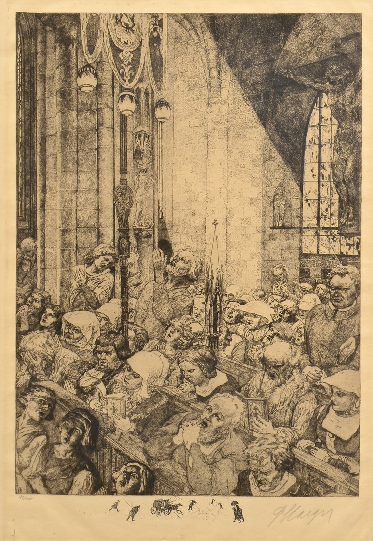 Lot 858: 3 Ferdinand Staeger Etchings from The Mastersinger
