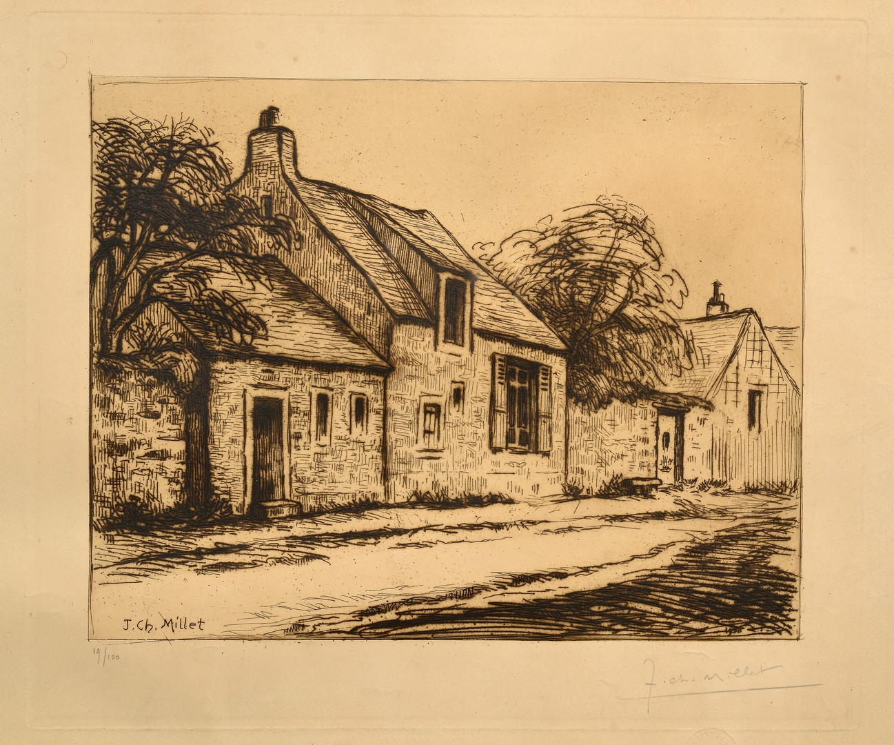 Lot 859: Group 3 Etchings, 19th & early 20th c.