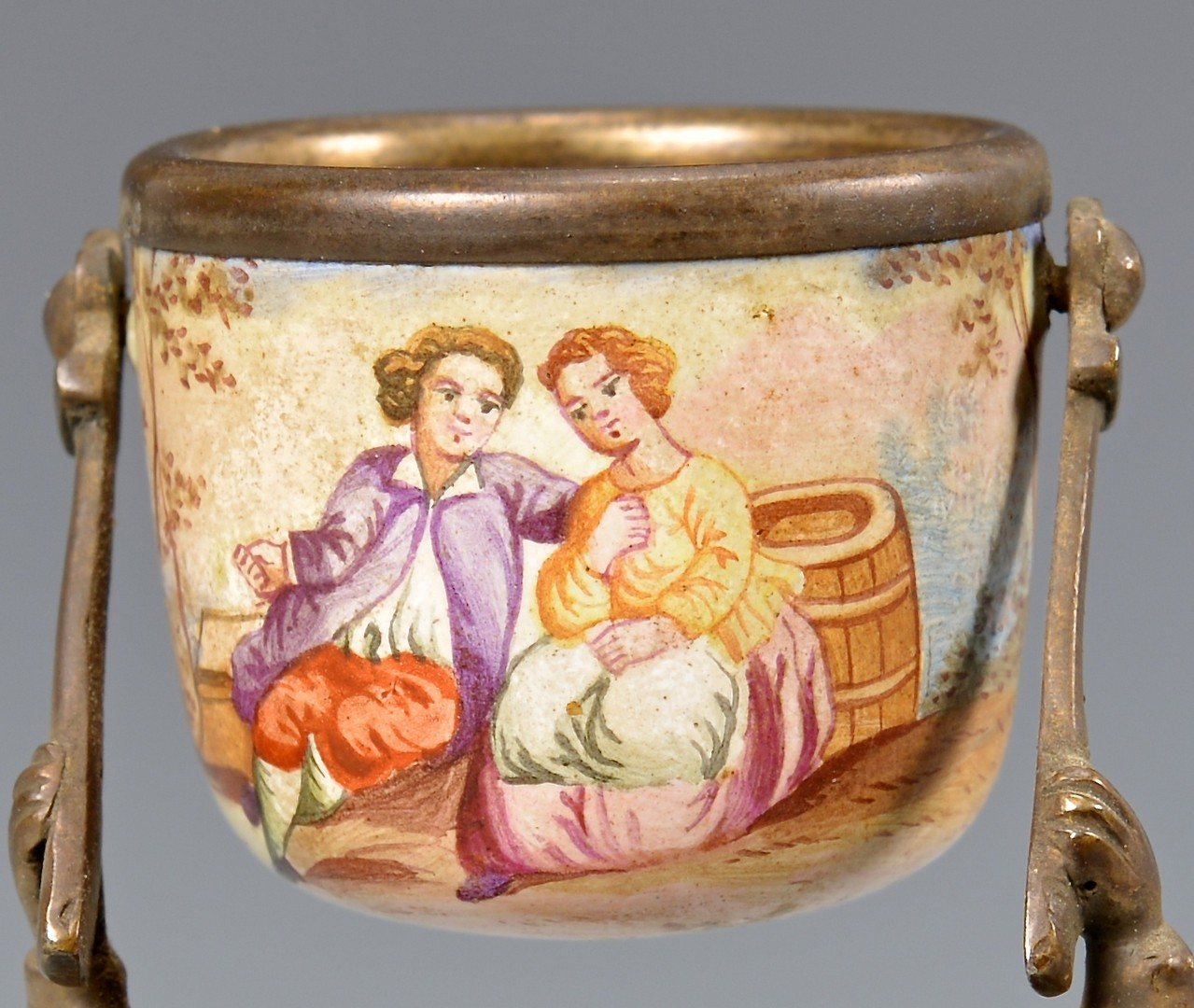Lot 85: Viennese Enamel Wedding Cup