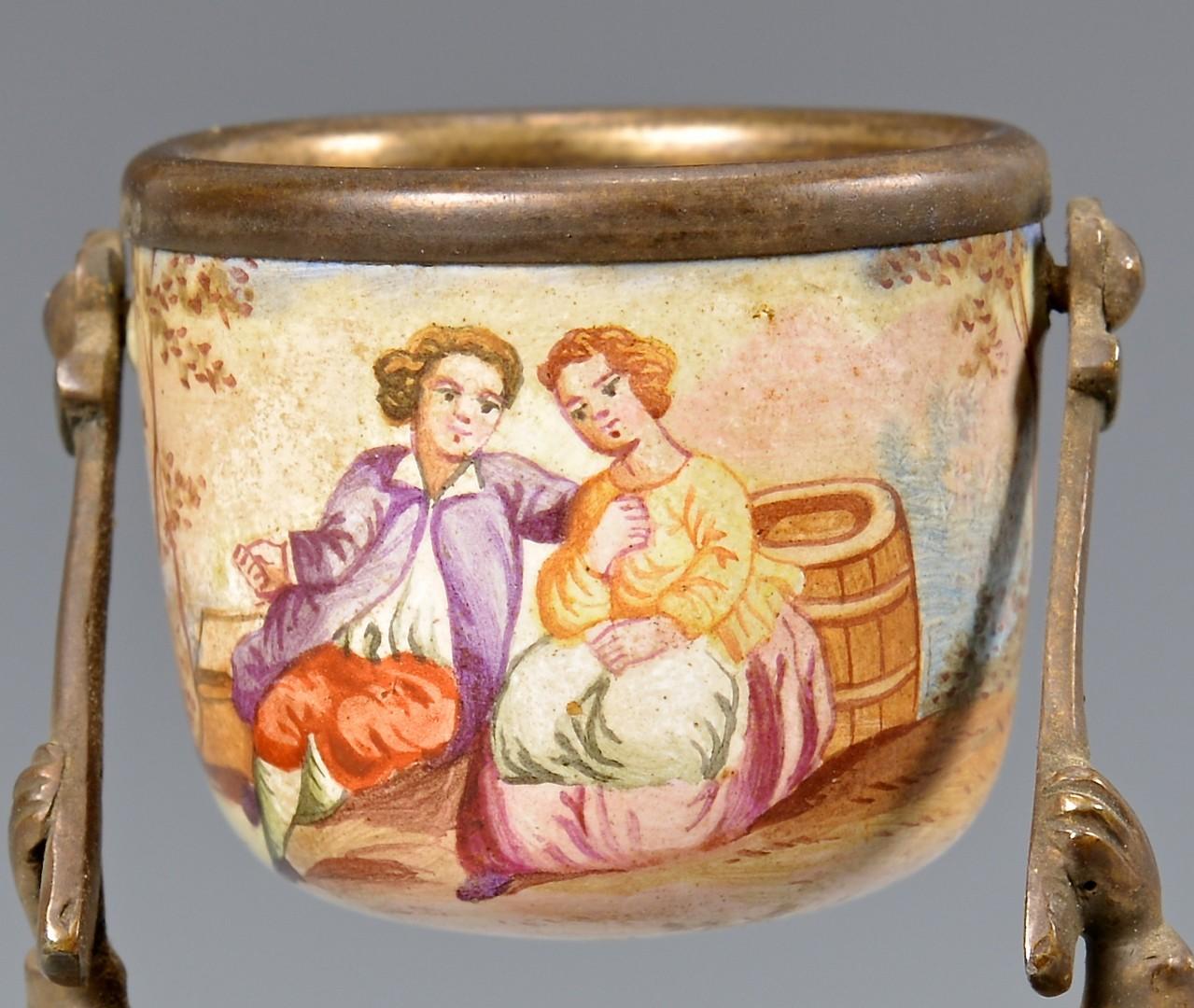 Lot 85: Viennese Enamel Wedding Cup