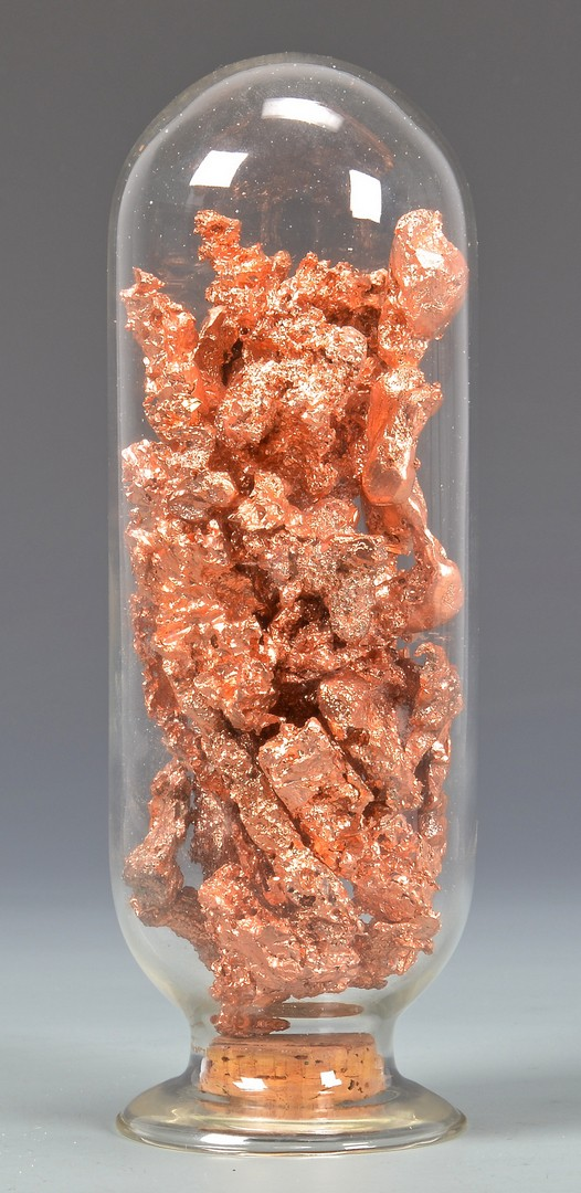 Lot 865: 2 Mineral Free Form Specimens, Crystal & Copper