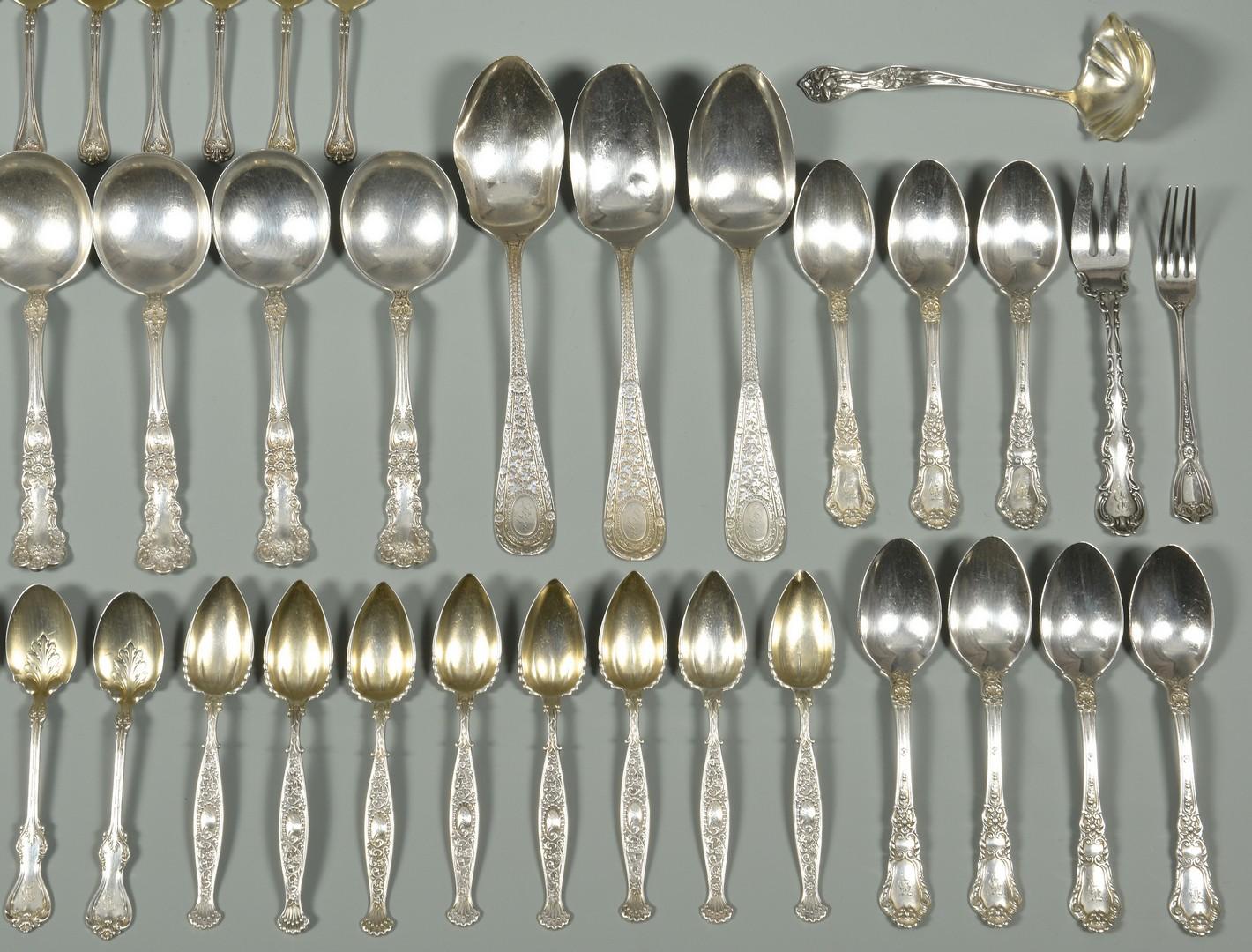 Lot 873: Asst. of Vintage Sterling Flatware (56 pcs)