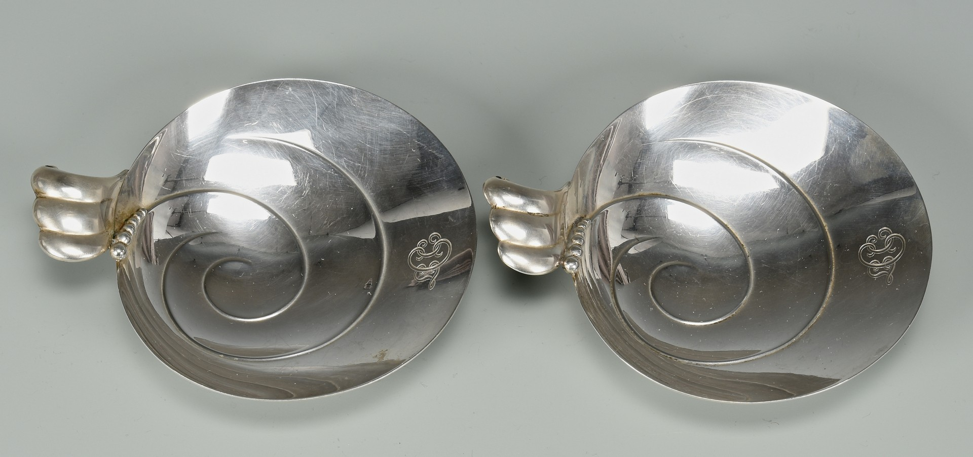 Lot 874: Tiffany Bowls, Plate and flatware, 8 pcs