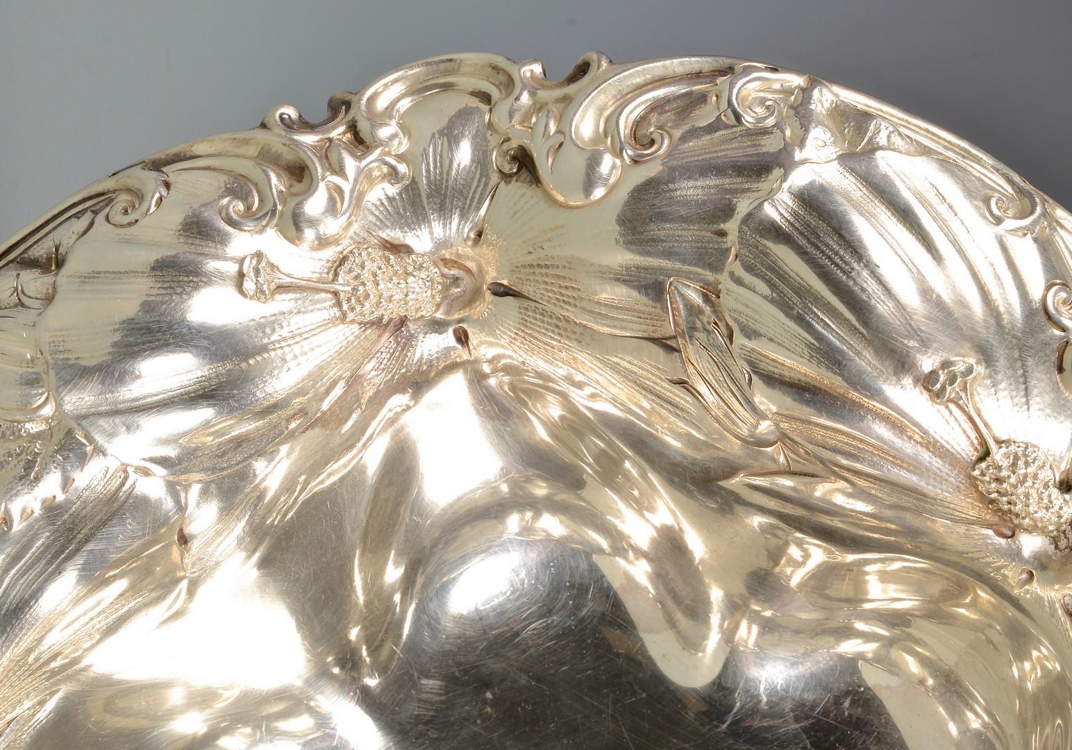 Lot 875: Art Nouveau Sterling Bowl