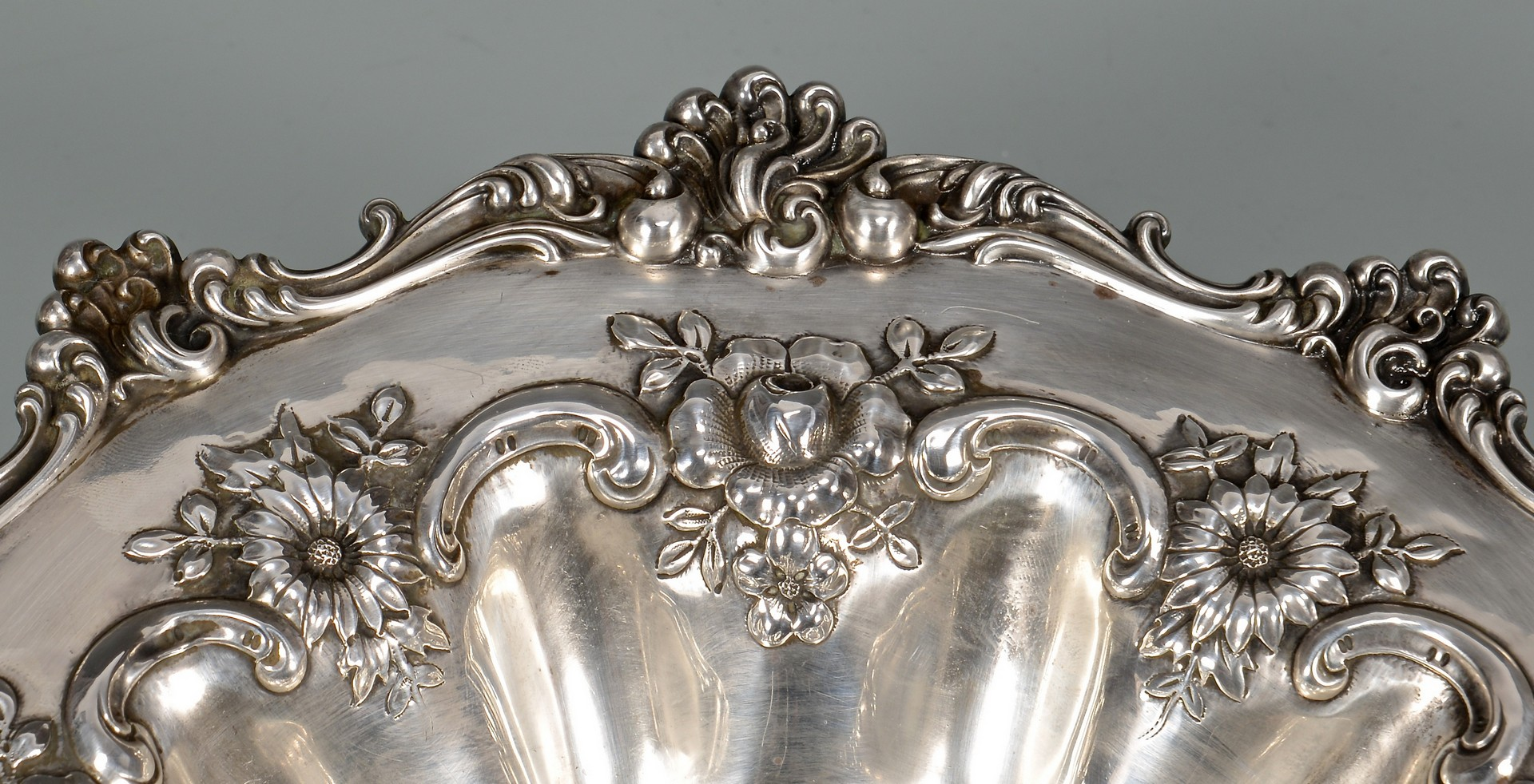 Lot 888: Sterling Compote and Tray