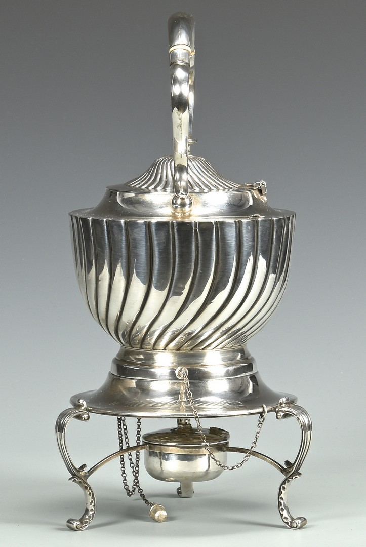 Lot 889: Sheffield Sterling Kettle on Stand