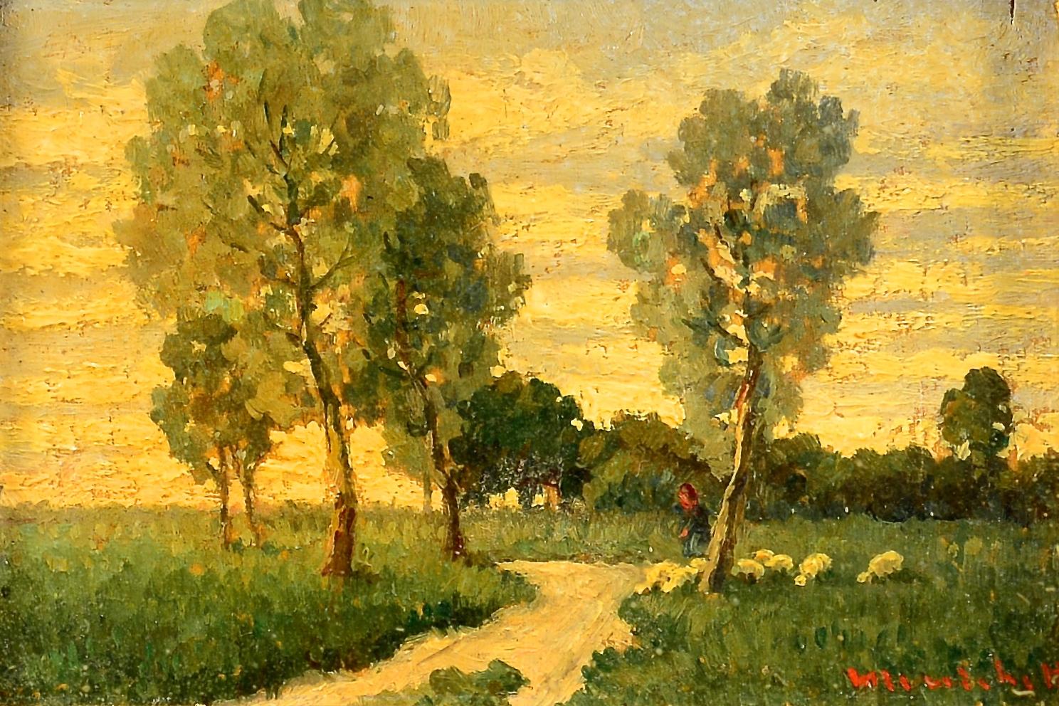 Lot 88: Two Miniature Landscapes, Menichetti