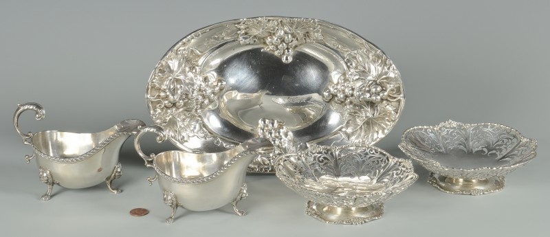 Lot 890: 5 Birks Sterling Bowls inc. Art Nouveau plus sauce