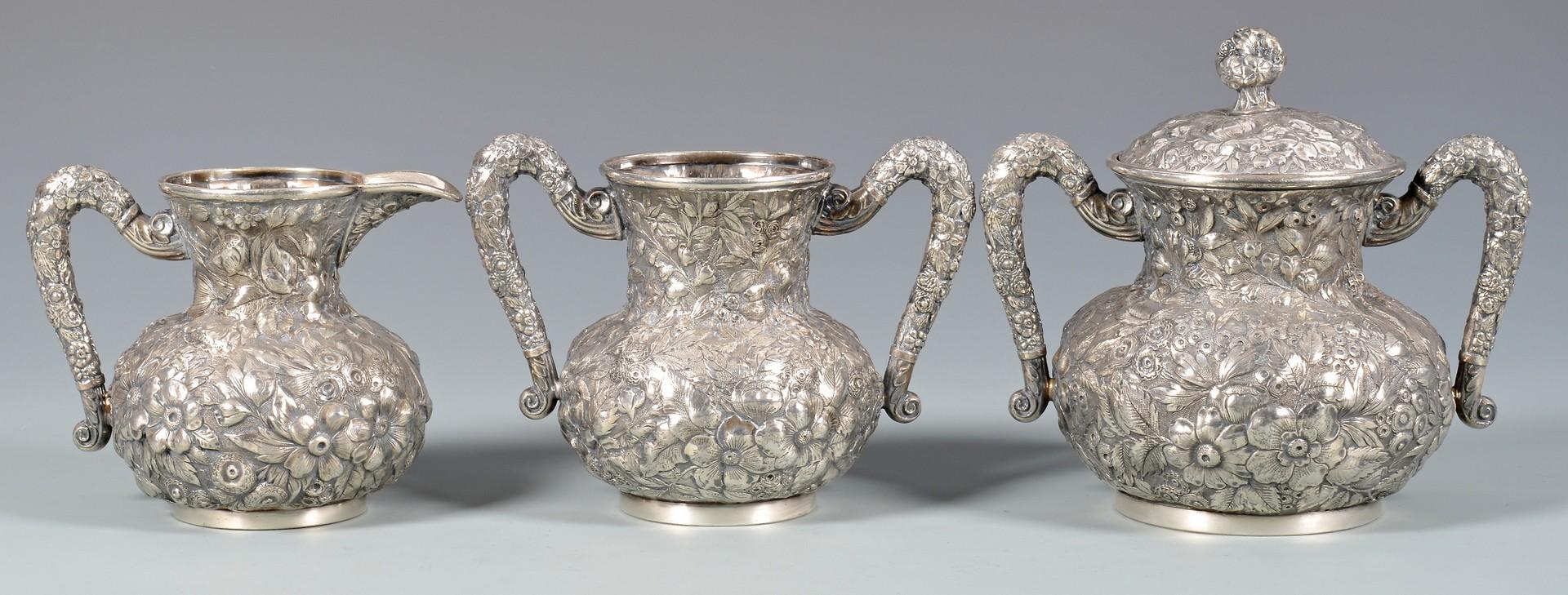 Lot 891: Victorian Tea Service w/ Urn, Tray, Salts