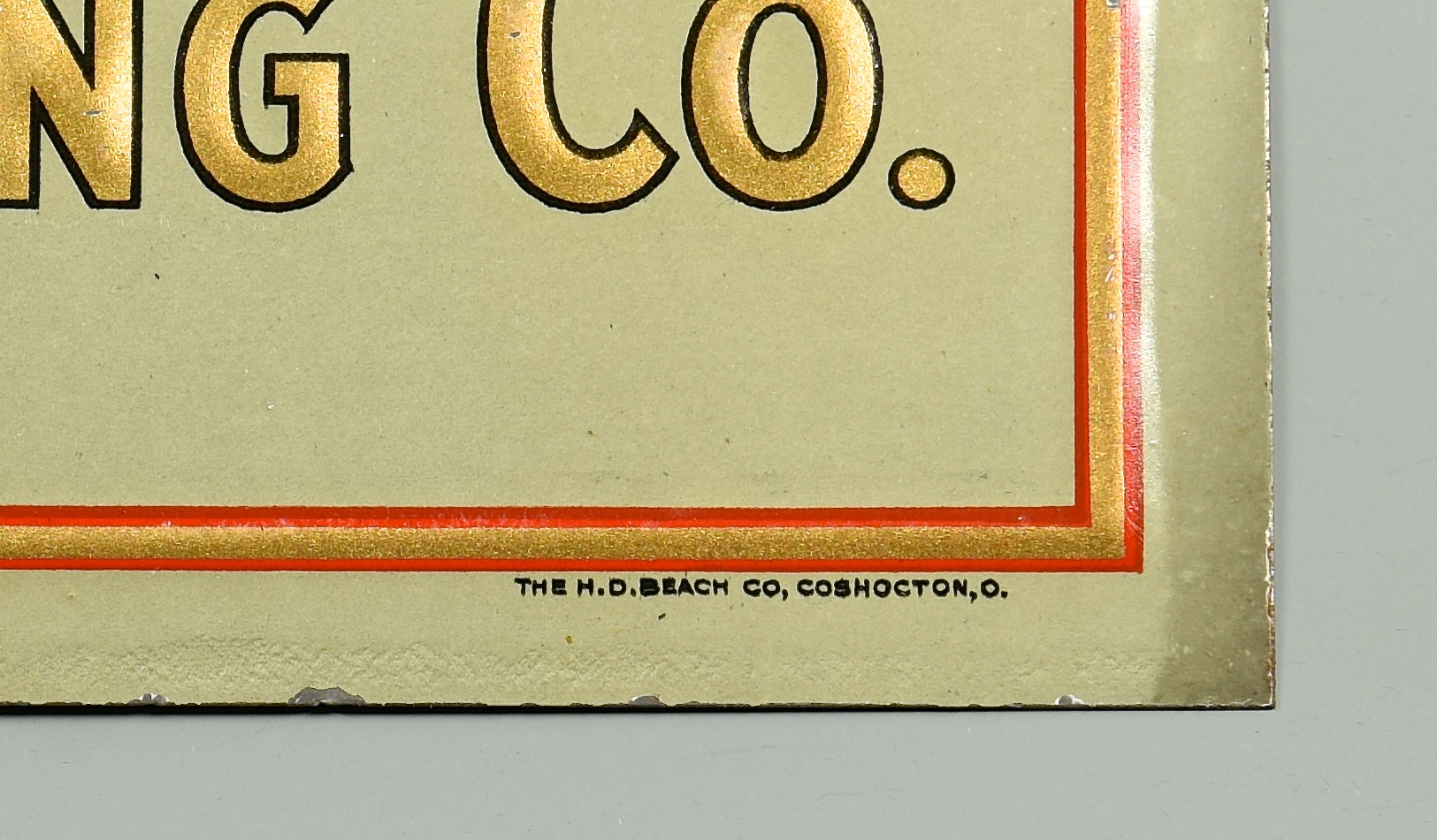 Lot 897: Columbia, TN Brewing Co. Advertising Sign