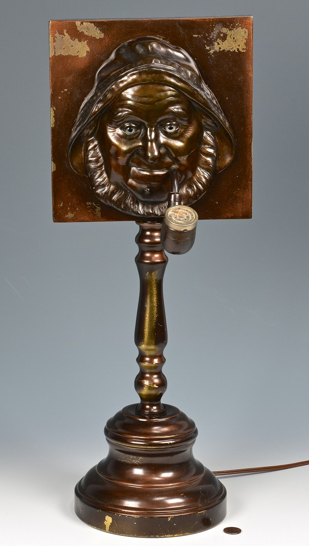 Lot 898: Countertop Figural Fisherman Cigar Lighter