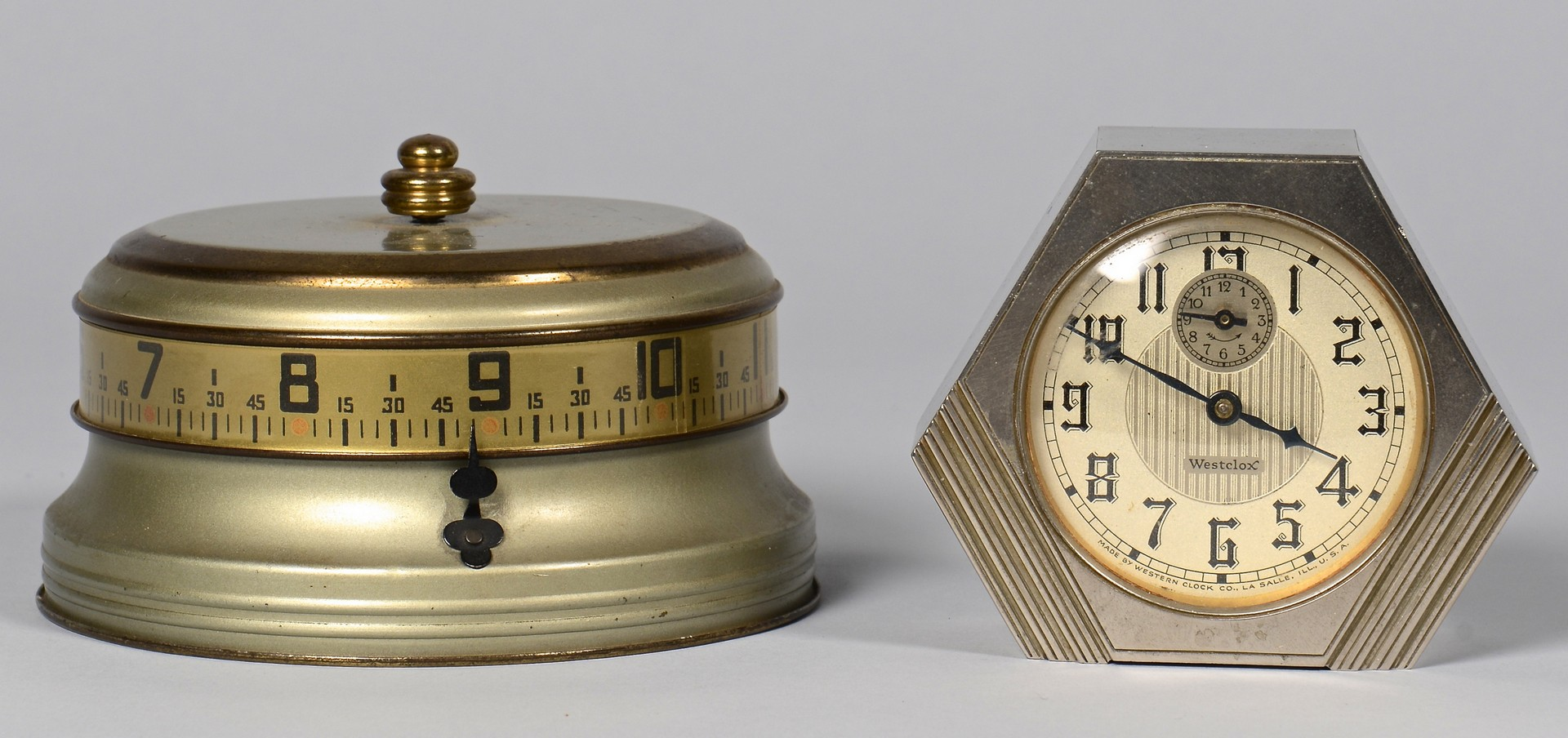 Lot 899: Vintage Clocks and Measuring Devices