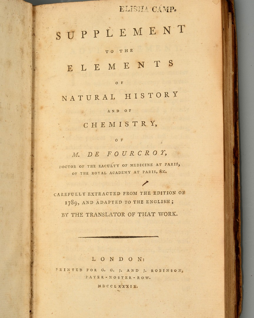 Lot 903: Fourcroy: Elements of Natural History, 1788 and 17