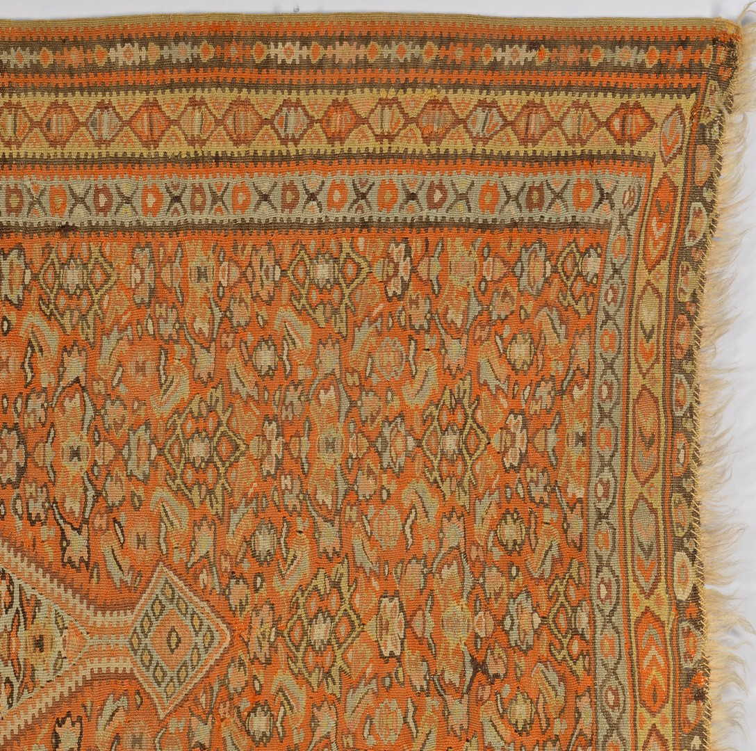Lot 905: Antique Persian Senneh Kilim, c. 1900