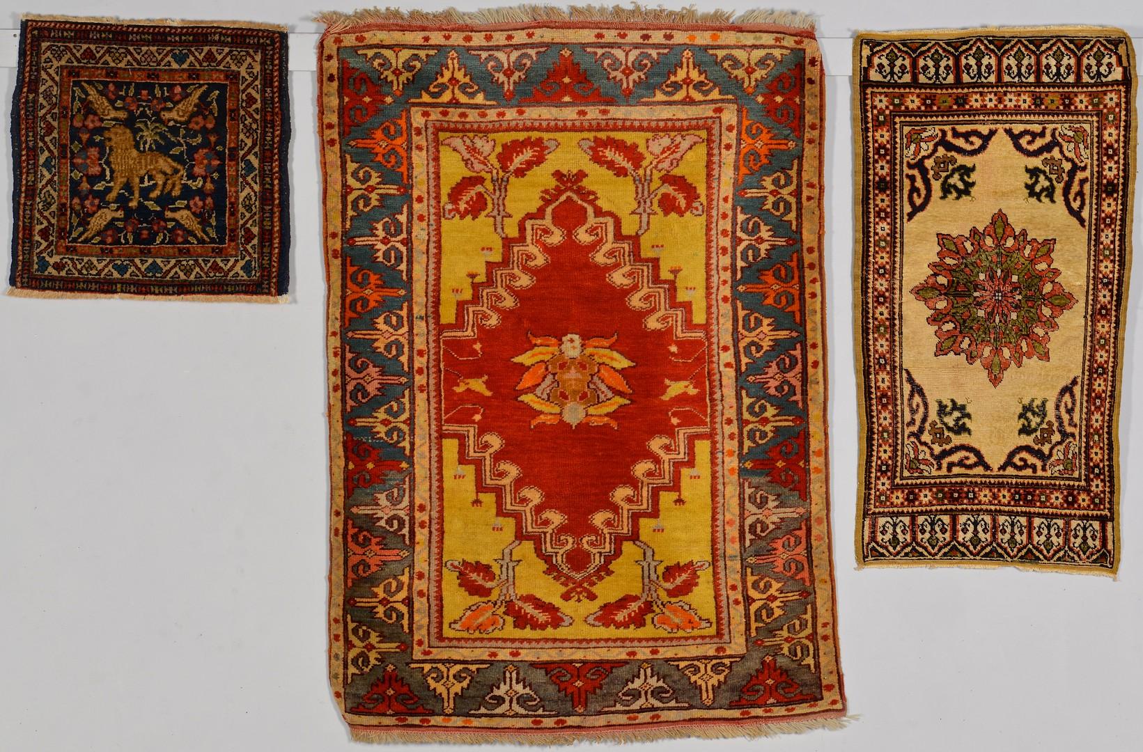 Lot 906: Group of 3 Anatolian Area Rugs