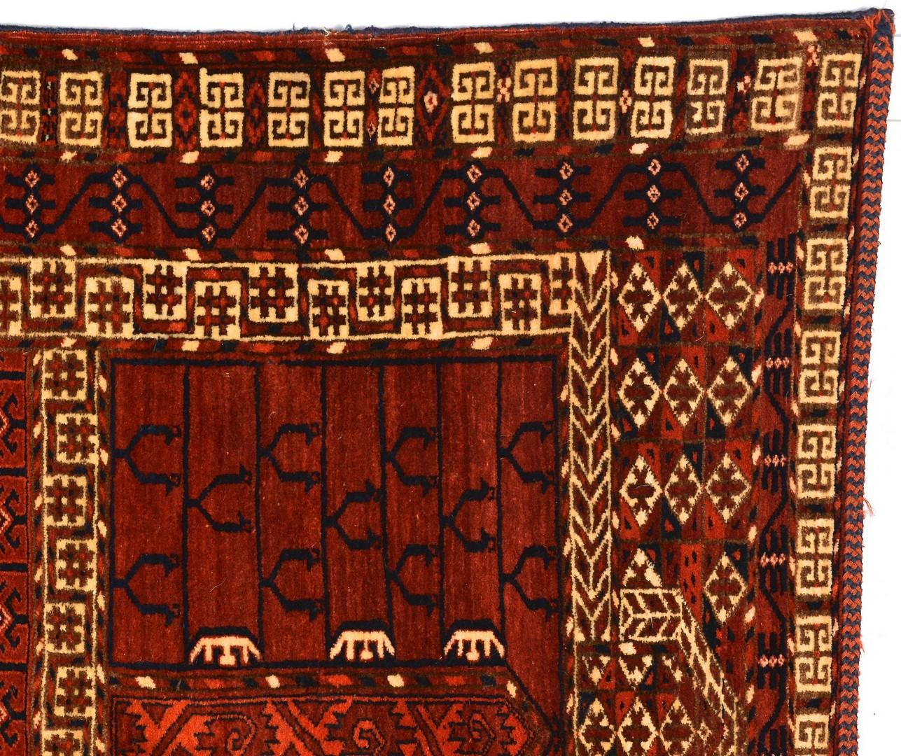 Lot 907: Tekke Hatchi area rug, c. 1930
