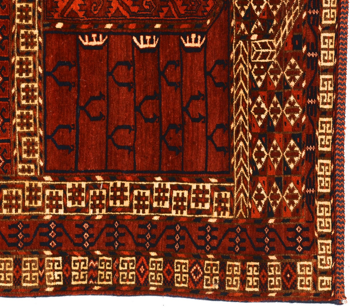 Lot 907: Tekke Hatchi area rug, c. 1930