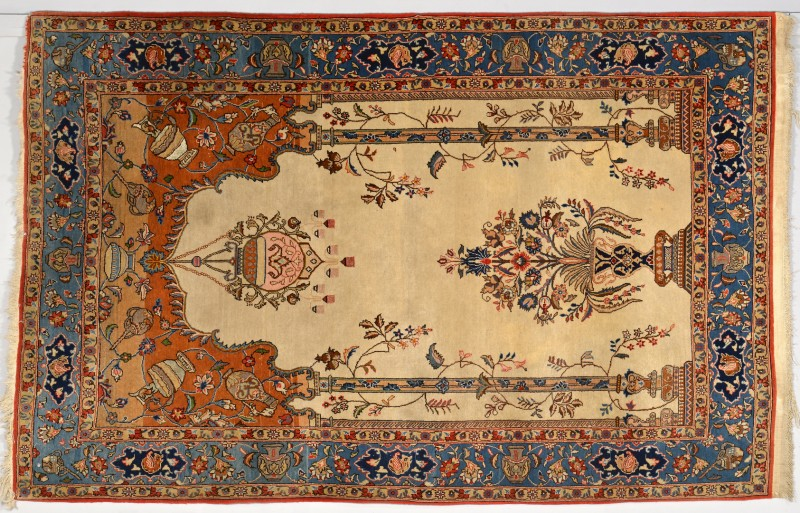 Lot 910: Tabriz Wool and Silk Tree of Life Rug