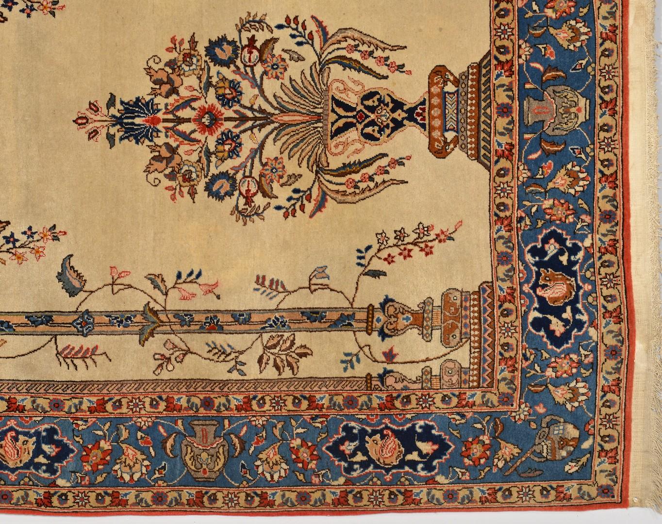 Lot 910: Tabriz Wool and Silk Tree of Life Rug