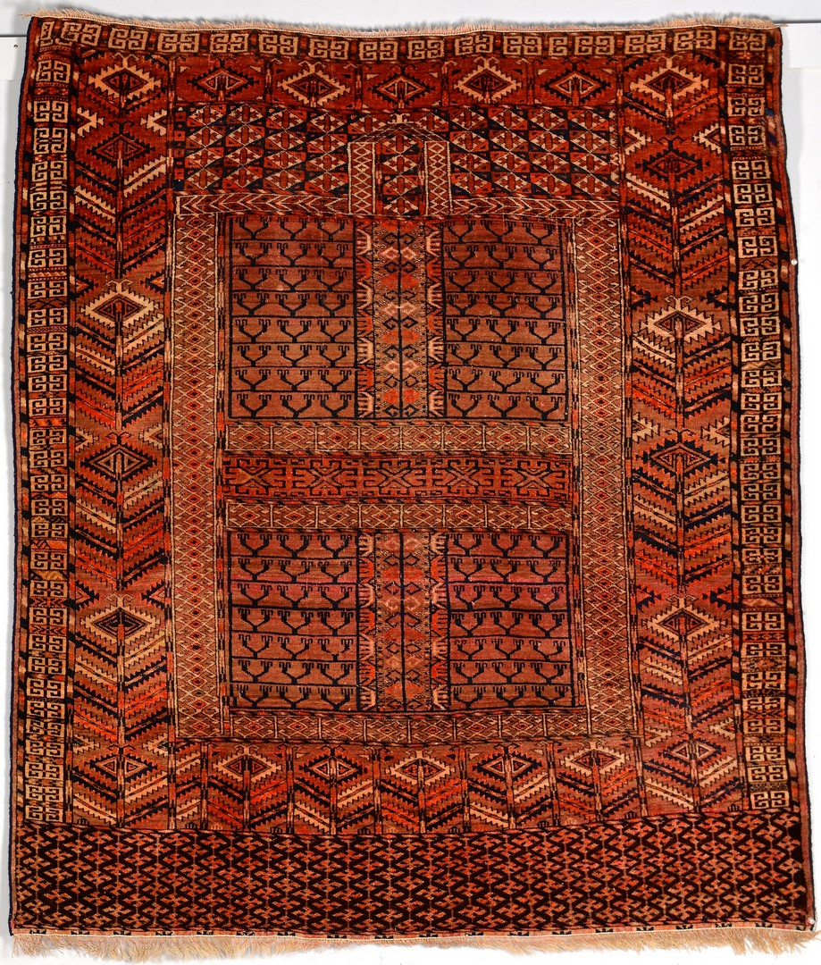 Lot 911: Antique Baluch and Tekke Engsi rugs