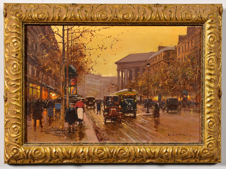 Lot 91: Edouard Cortes O/C Paris Street Scene