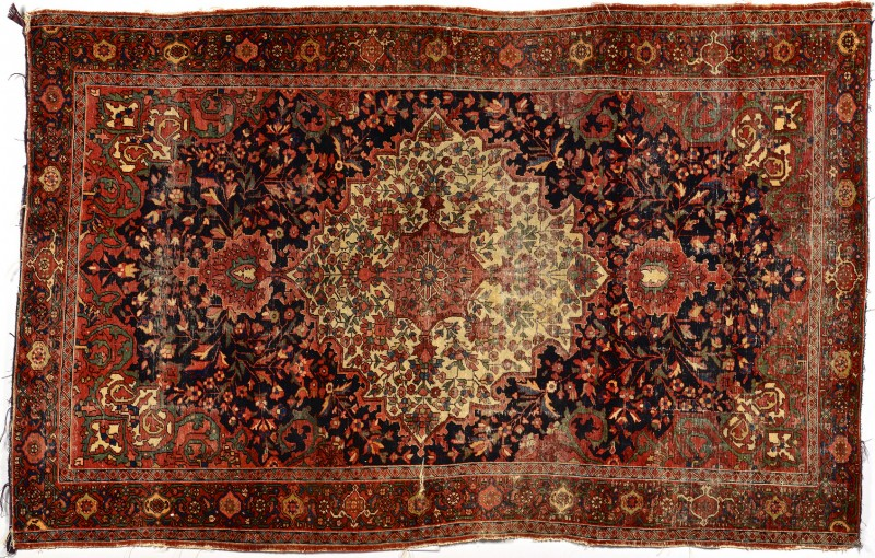 Lot 924: Persian Sarouk Rug w/ Ivory Center