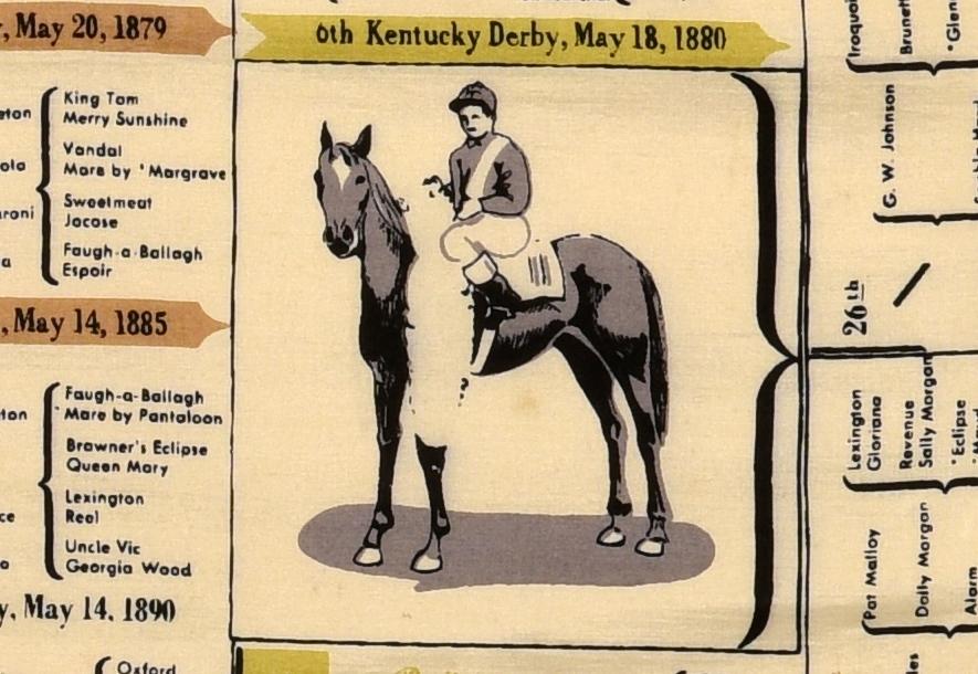 Lot 934: Helene Proteau KY Derby Scarf, 1949