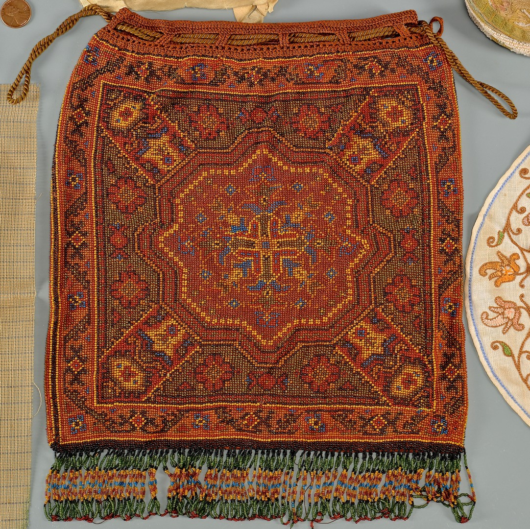 Lot 935: Beaded Purse, Textiles and Beads