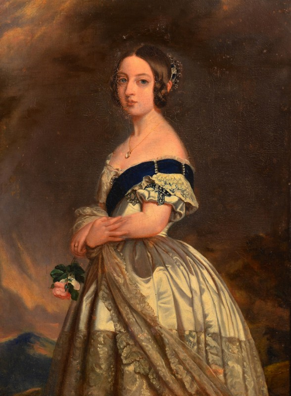 Lot 93: After F. Winterhalter, Queen Victoria portrait