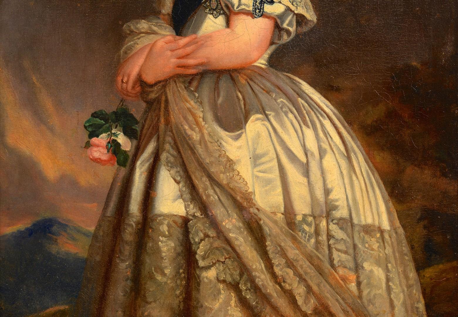 Lot 93: After F. Winterhalter, Queen Victoria portrait