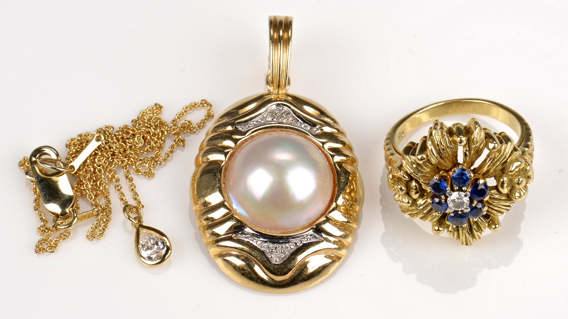 Lot 947: 3 Gold Jewelry Items incl Tiffany