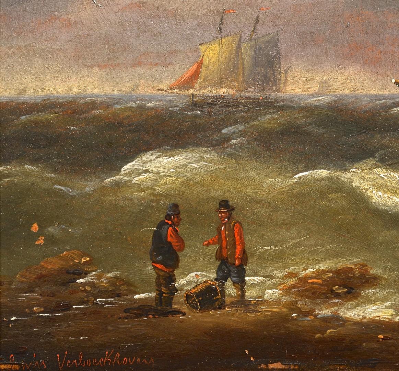 Lot 94: Louis Verboeckhoven Pr Seascapes