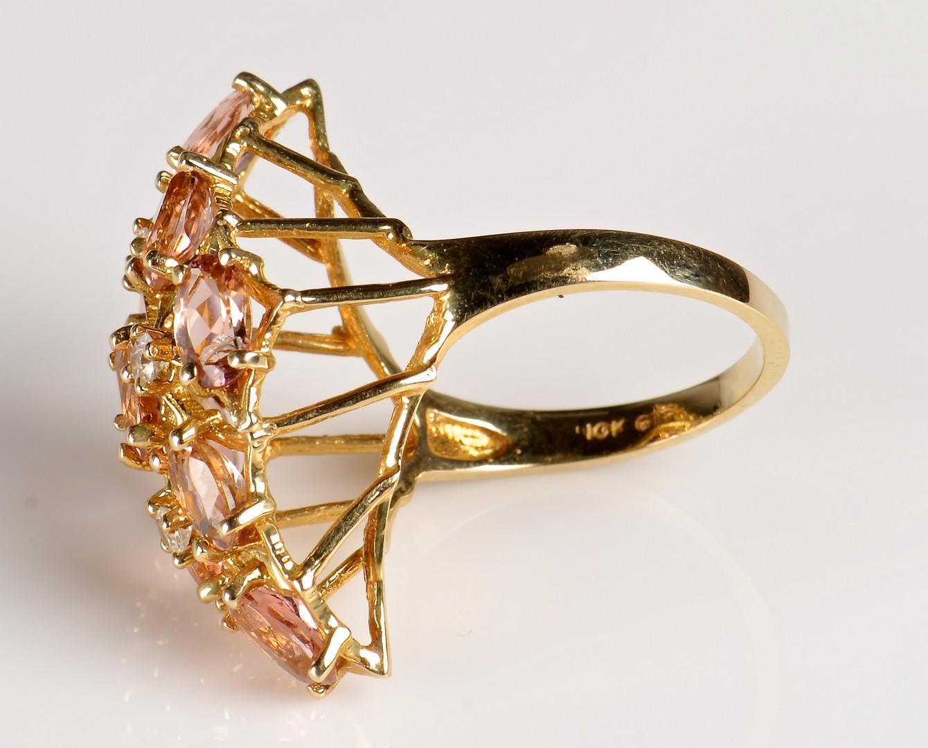 Lot 951: 4 14K Yellow Gold Ladies Rings; 1 10K