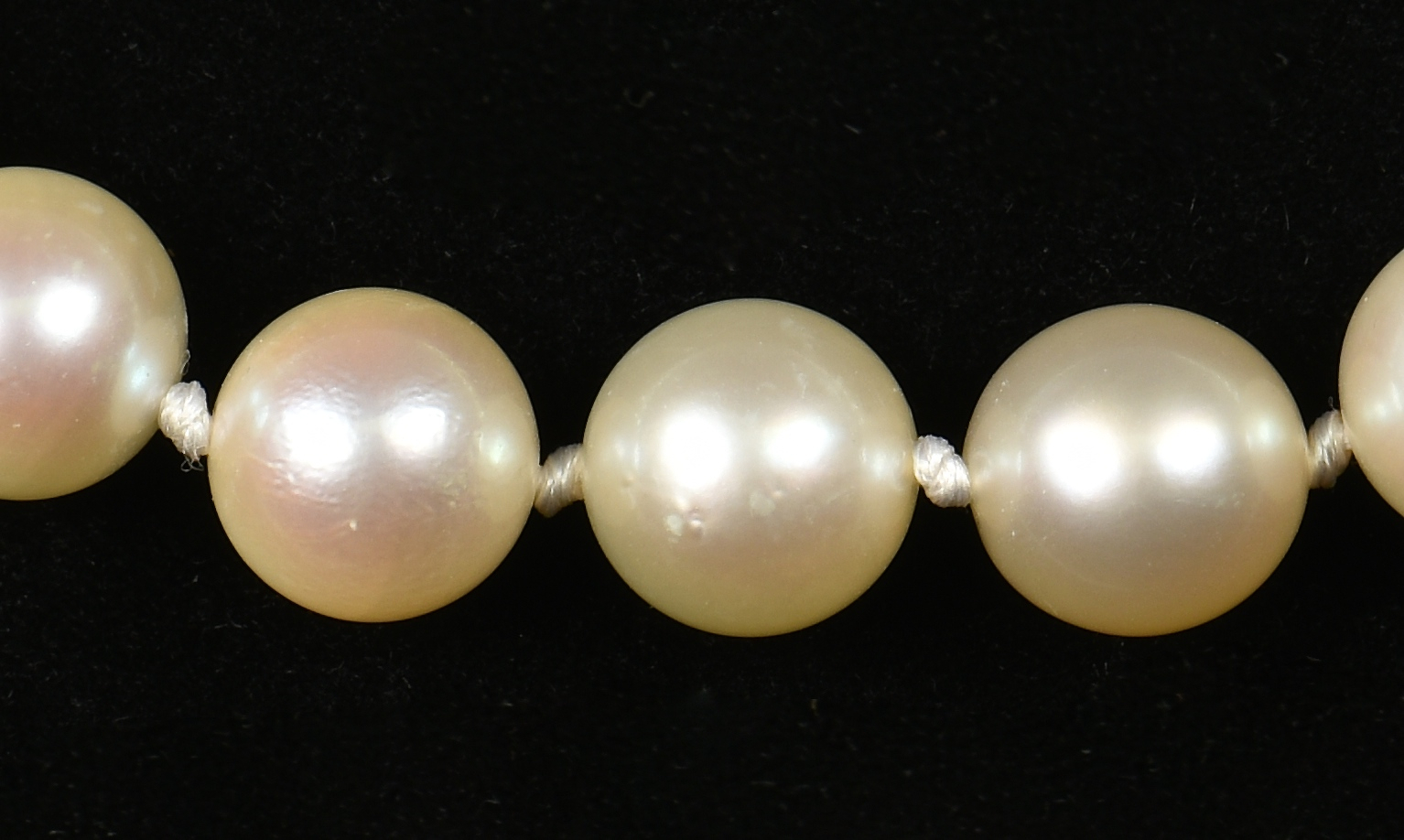 Lot 952: 2 Pearl Necklaces w/ 14K Gold Clasps