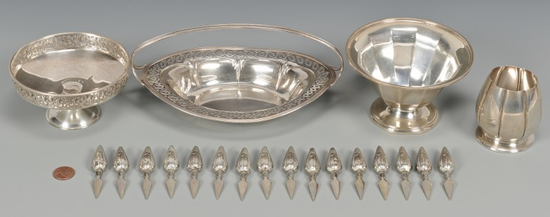 Lot 961: Sterling Candy dishes, Corn Holders
