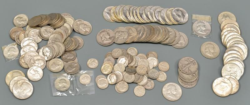 Lot 962: Sixteen 1964 Uncirculated Kennedy Half Dollars