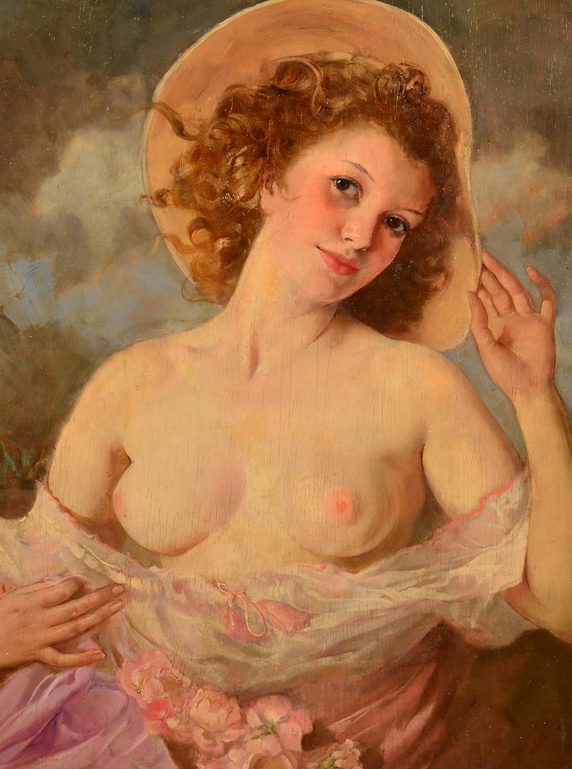 Lot 96: Maria Szanto Oil on Board Nude