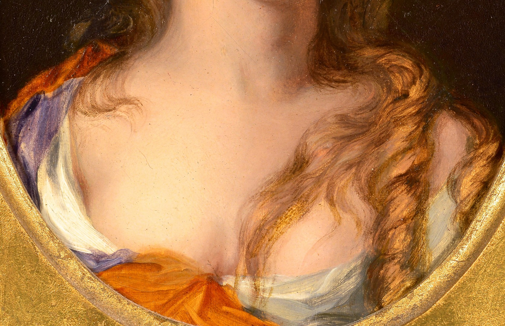 Lot 97: Old Master Oil on Panel Female Portrait