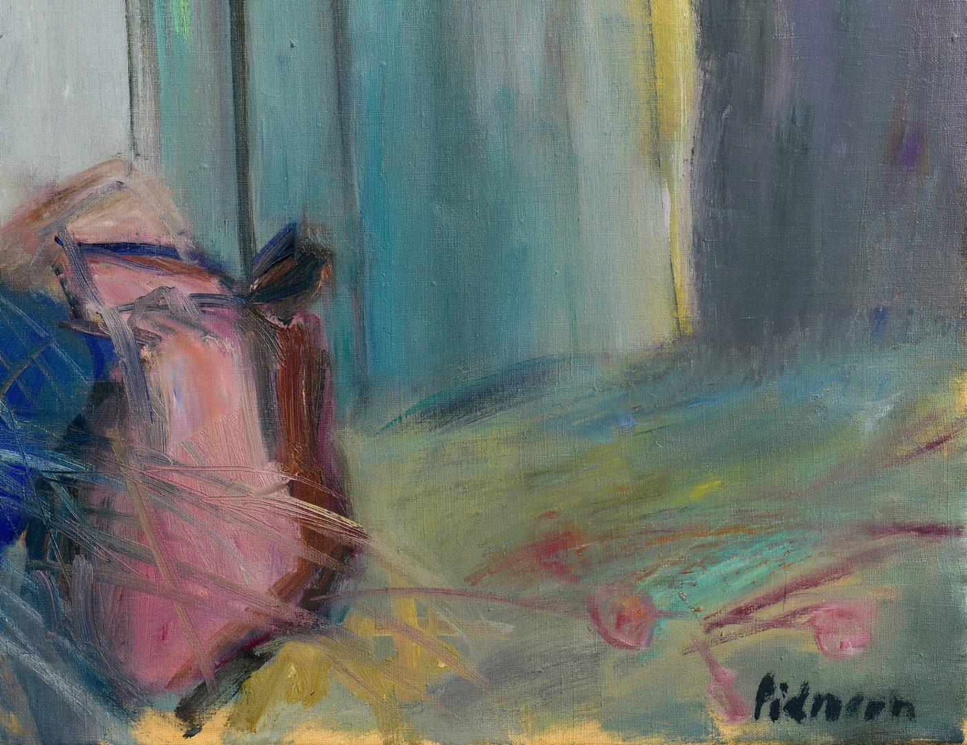 Lot 101: Edmond Pielmann Oil on Canvas, Fisherman