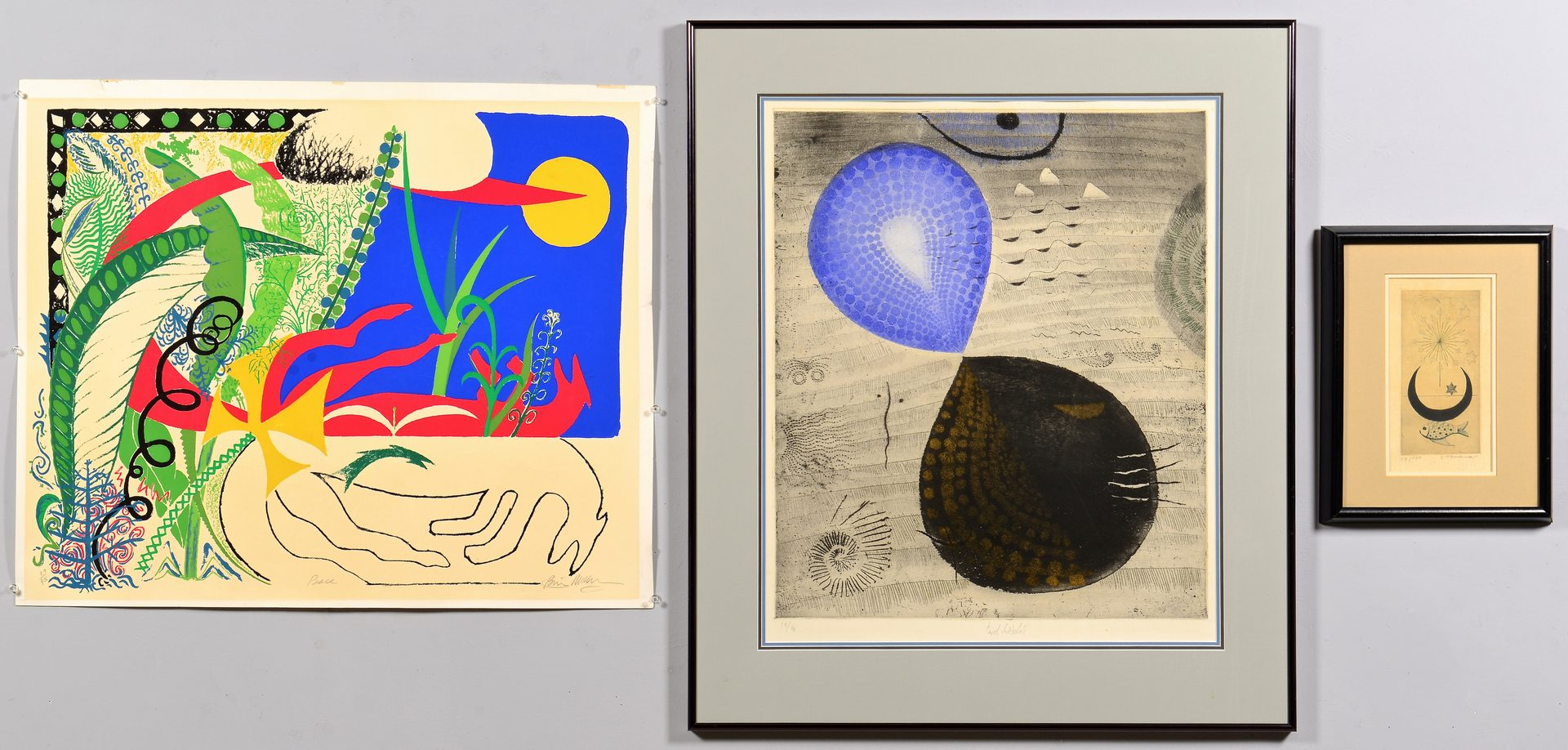 Lot 104: 3 Abstract 20th Century Signed Prints