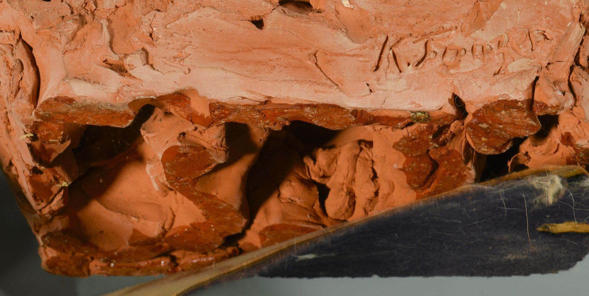 Lot 108: Karin Jonzen Terracotta Bust of Young Girl